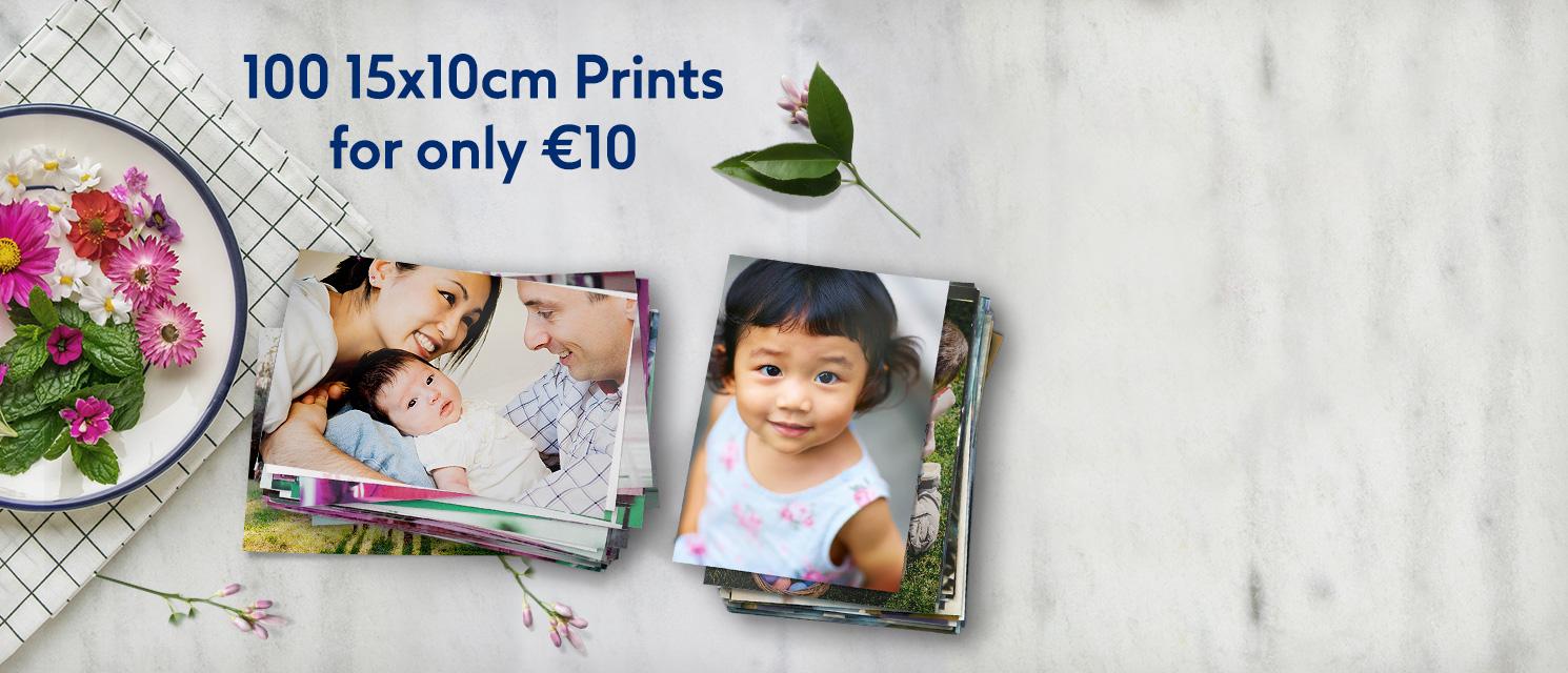 Order 100 15x10cm prints for €10!