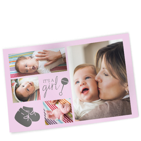 """12x8"""" Collage Photo Print of baby girl"""