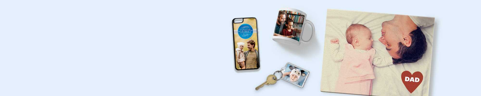 Father's Day Create memorable gifts for Father's by featuring his favourite photos!  Don't forget Father's Day is on Sunday 18th June 2017. Order selected Father's Day gifts up until 18th June using our same day collect service!