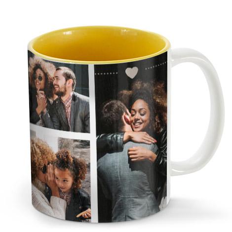 11oz Single & Collage Mug- Yellow