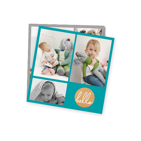 """5x5"""" Collage Photo Print of a baby with toy"""