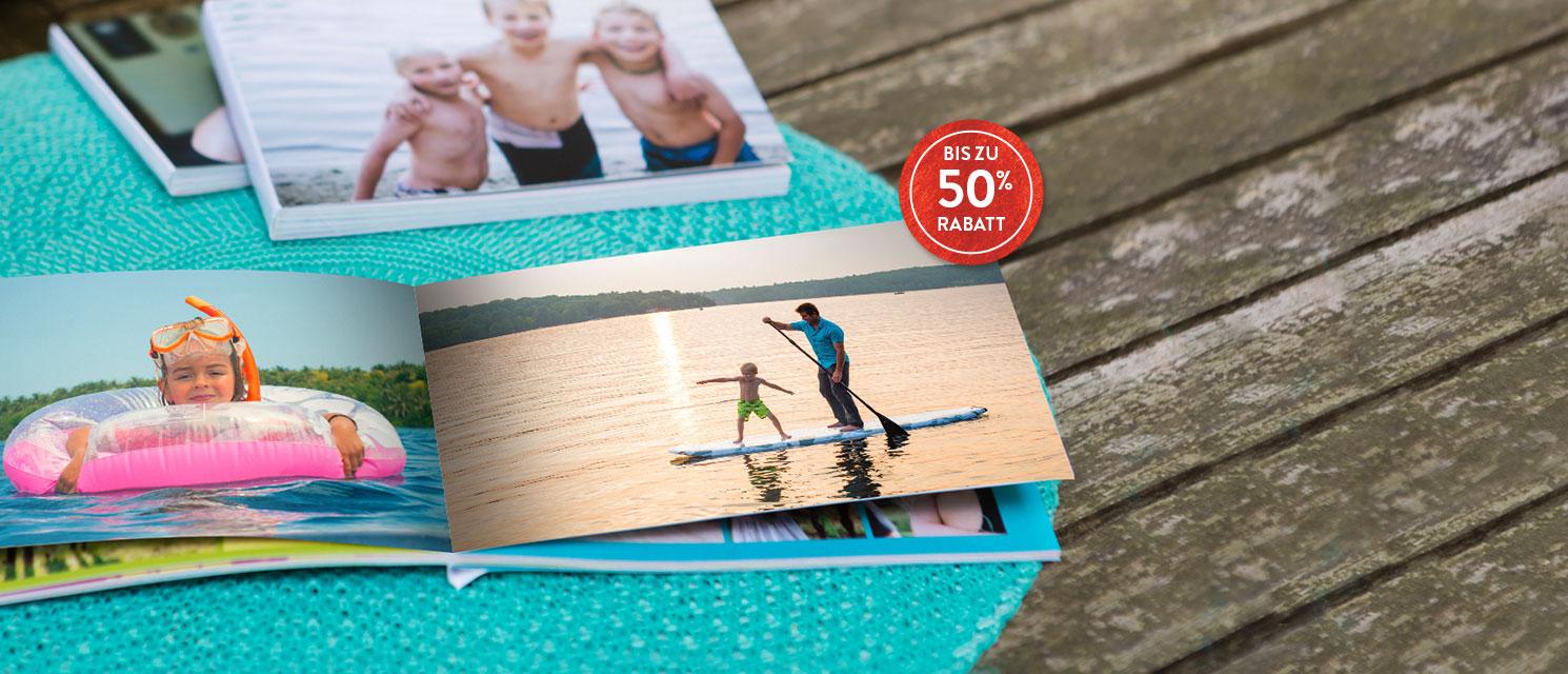 Fotobücher bis zu 50% Rabatt