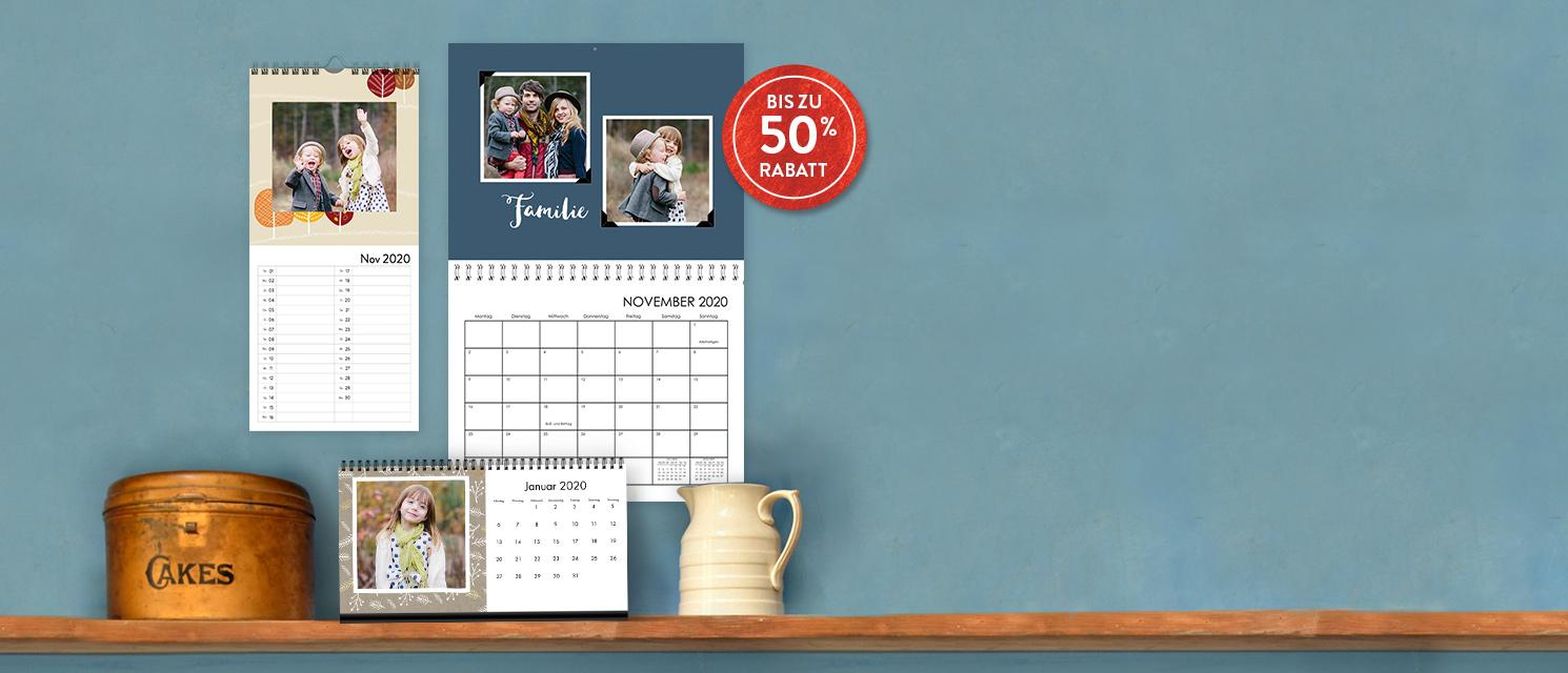 Kalender Bis Zu 50% Rabatt
