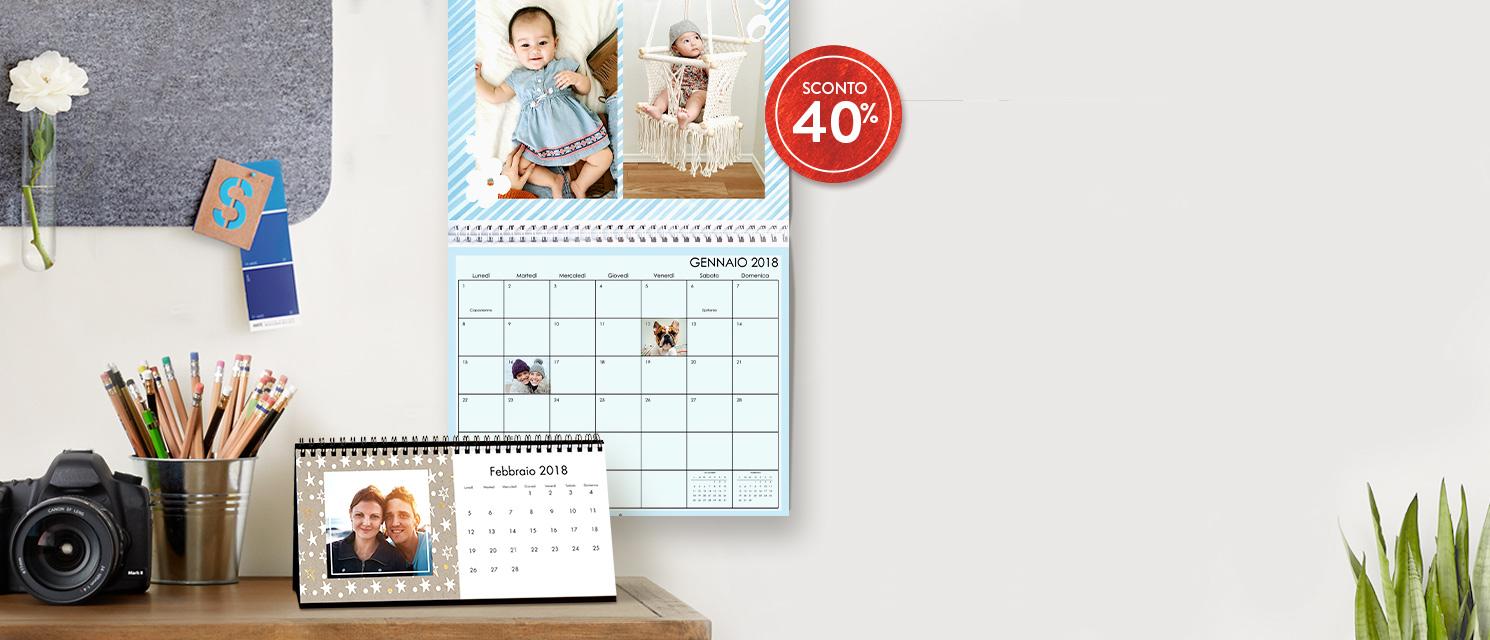 Il 2018 è dietro l'angolo... : 40% di sconto sui Calendari Codice: WALL1117