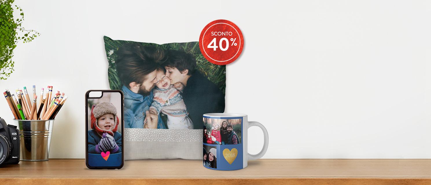 Pensa alla Festa del  Papà : -40% su Fotoregali, Fotoarredo e Tazze Codice: SPECIAL218