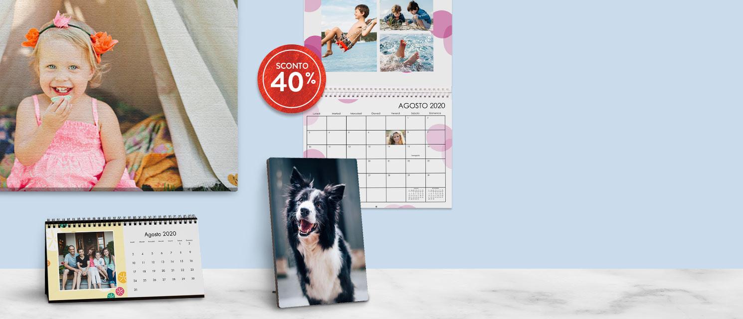 -40% sui Calendari e Decorazioni Pareti