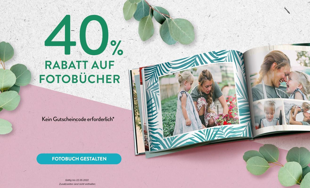 40% Rabatt auf Fotobücher