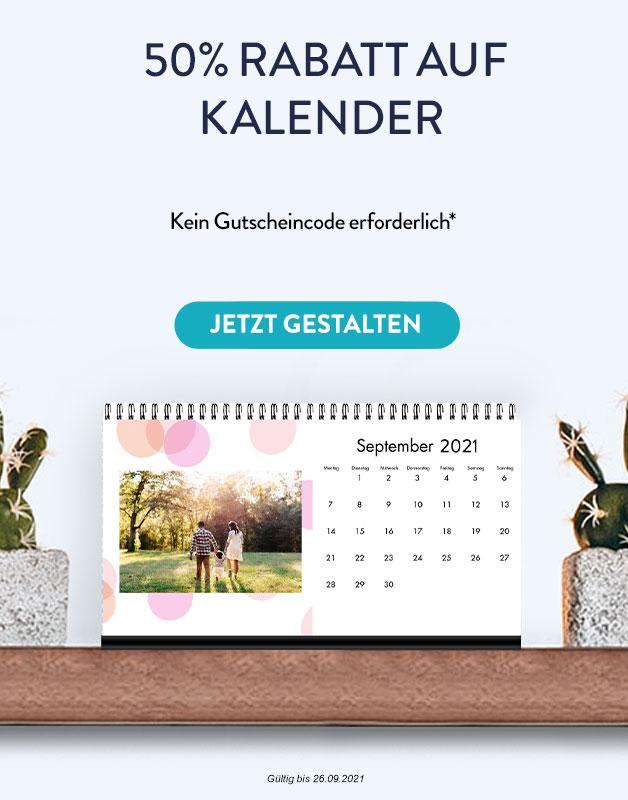 50 % Rabatt auf Fotokalender