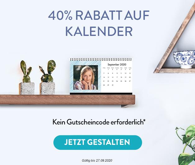 40% Rabatt auf Kalender