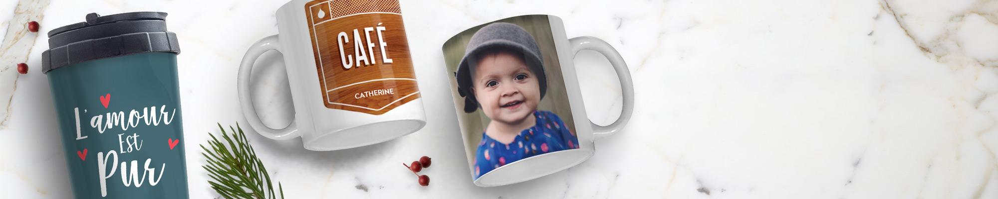 Impression de photos sur des tasses et mugs design