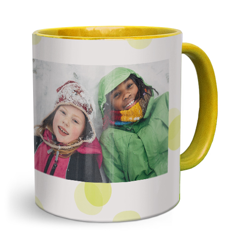 Mug photo jaune