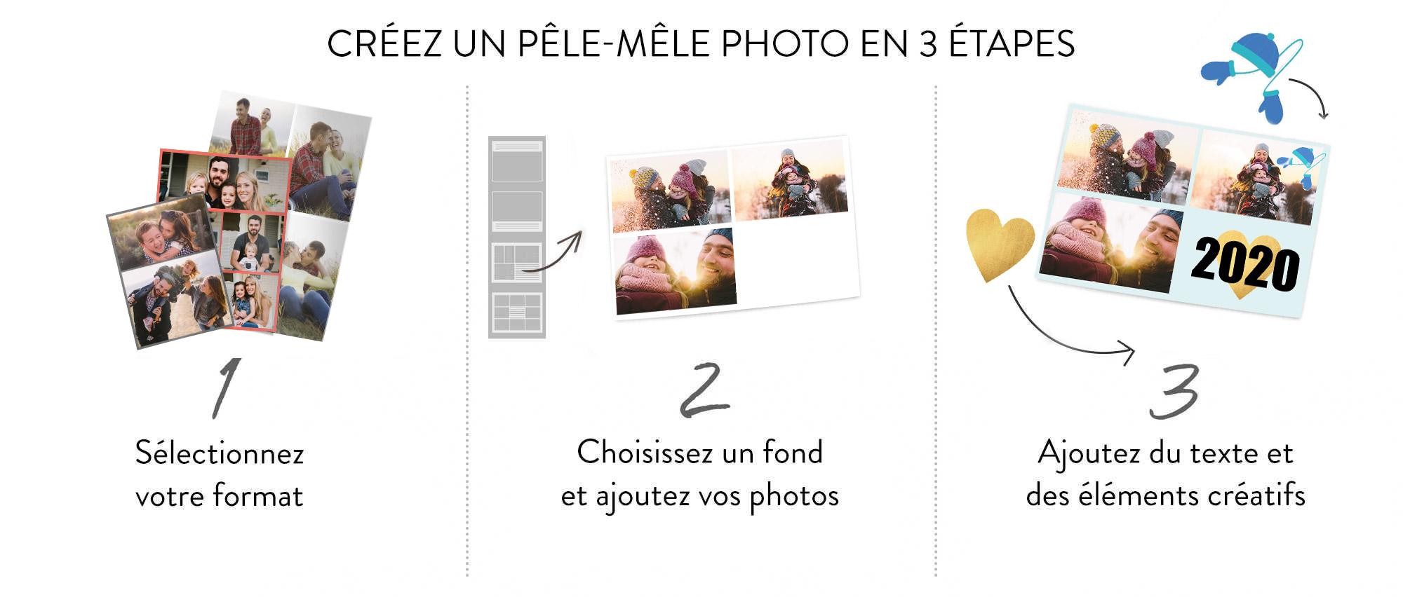 Créez un pêle-mêle photo en 3 étapes