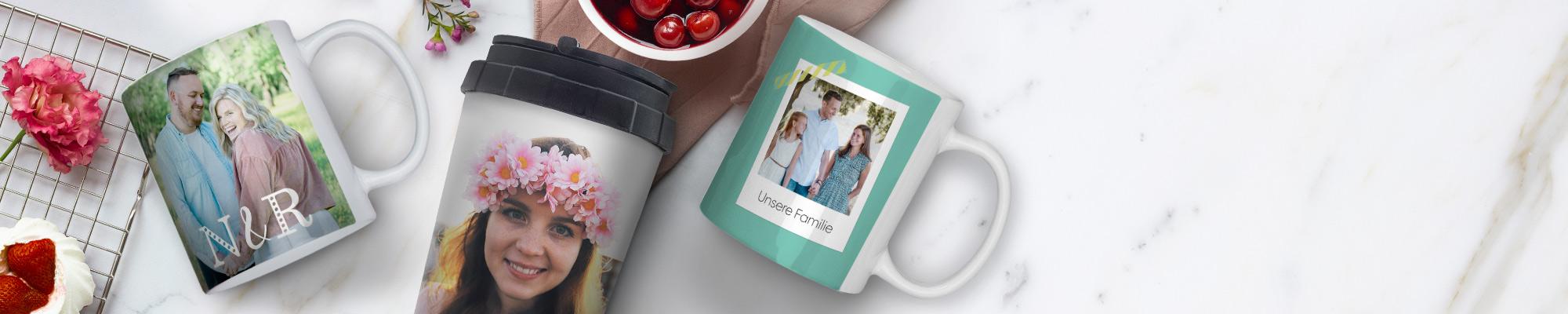 Selbst gestaltete Fototassen