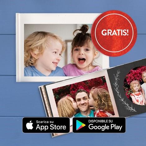 Fotolibro con due bambine sorridenti e papà