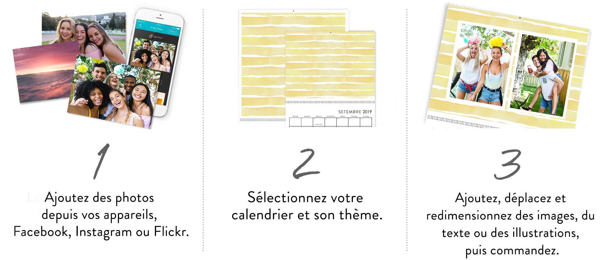 Créez votre calendrier en 3 étapes