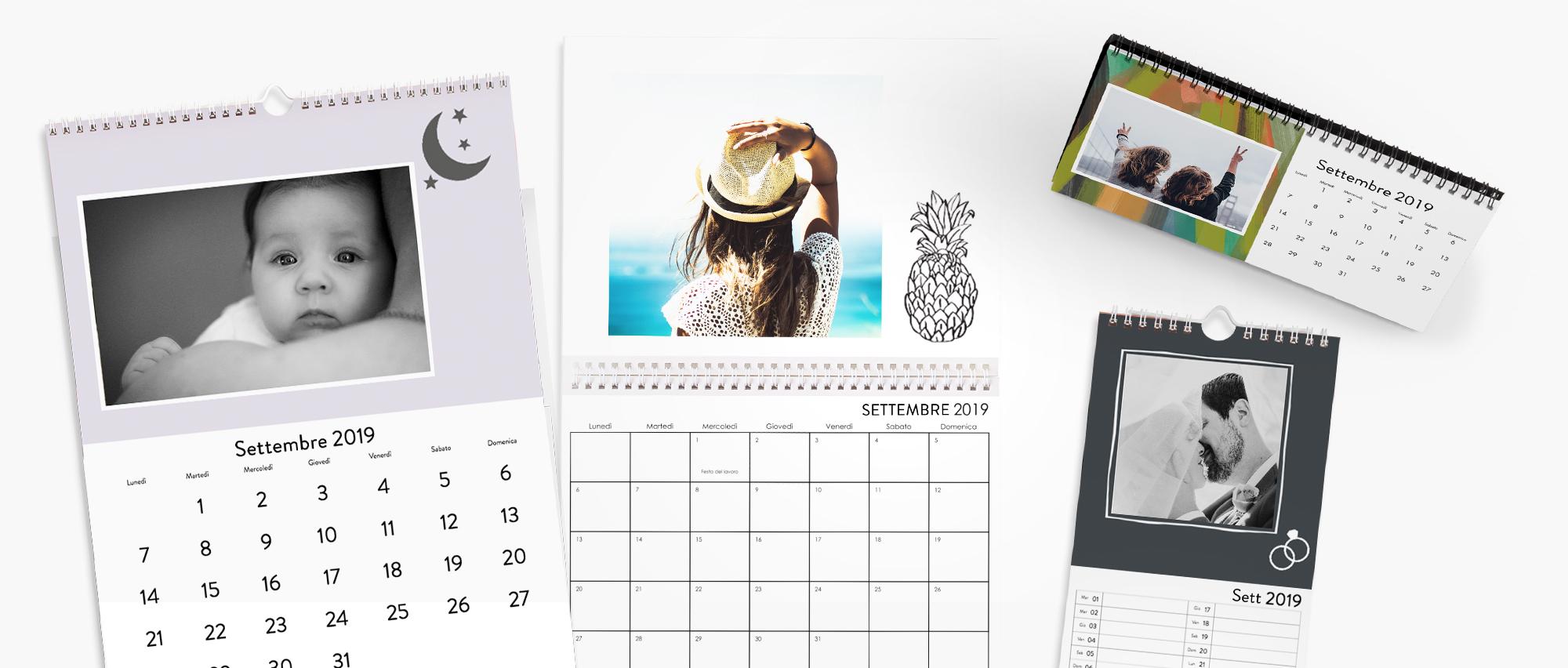 Tanti calendari personalizzati per te