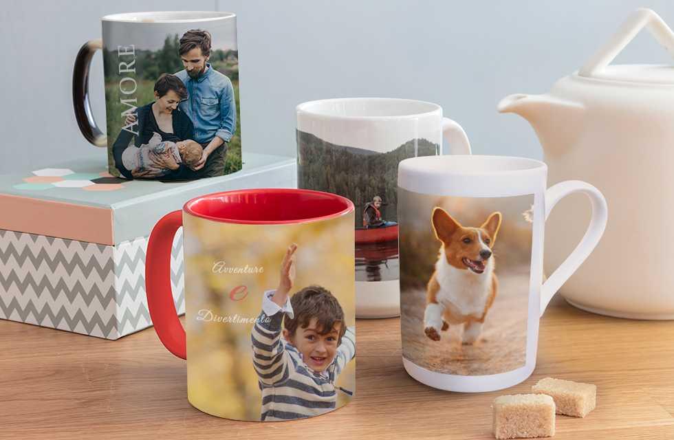 Personalizza tazze con foto