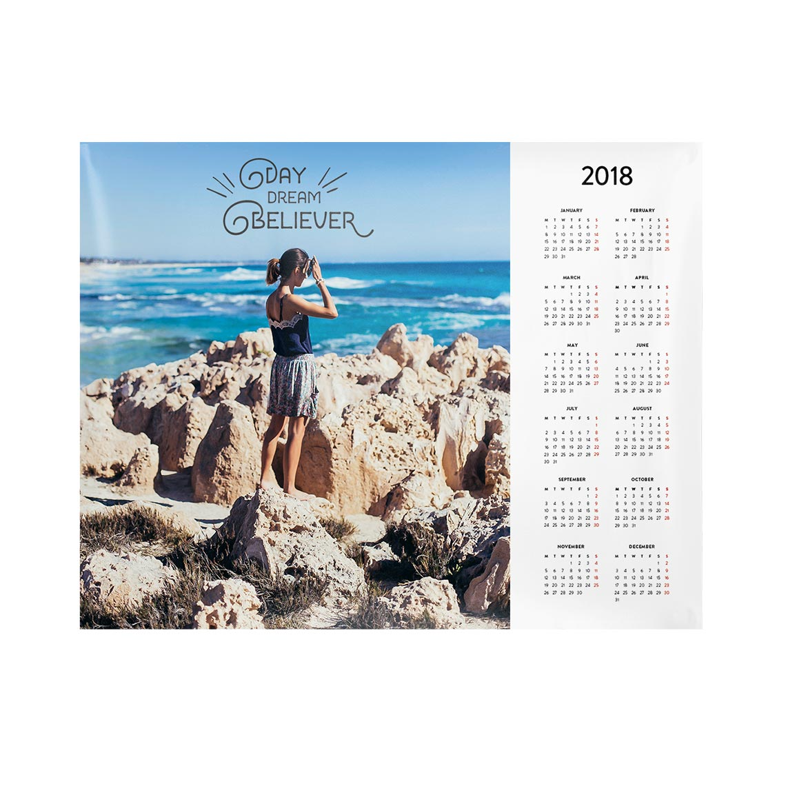 Icon Calendar Poster