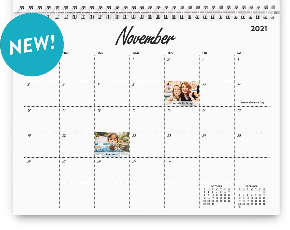 Classic Wall Calendar - Stylish Grid design