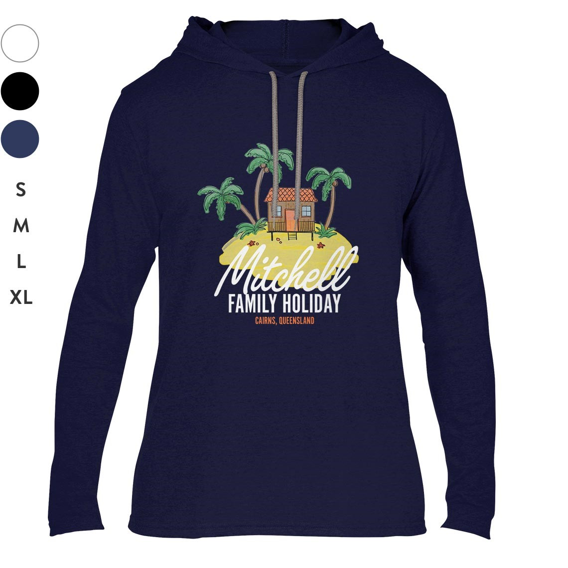 Adult Long Sleeve Hooded T Shirts
