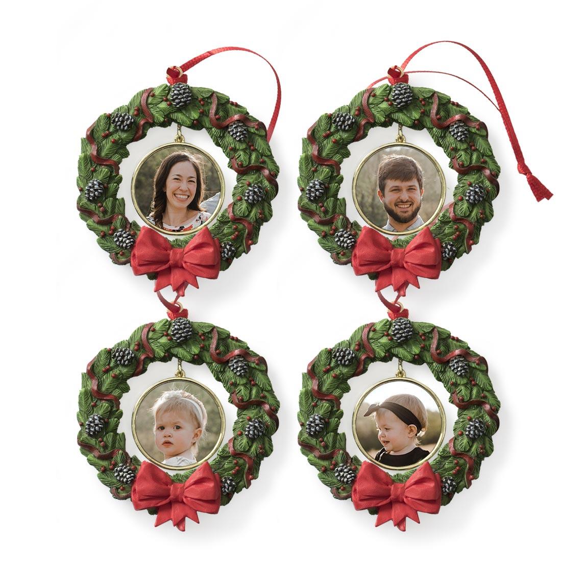 Icon Wreath Ornament - Set of 4