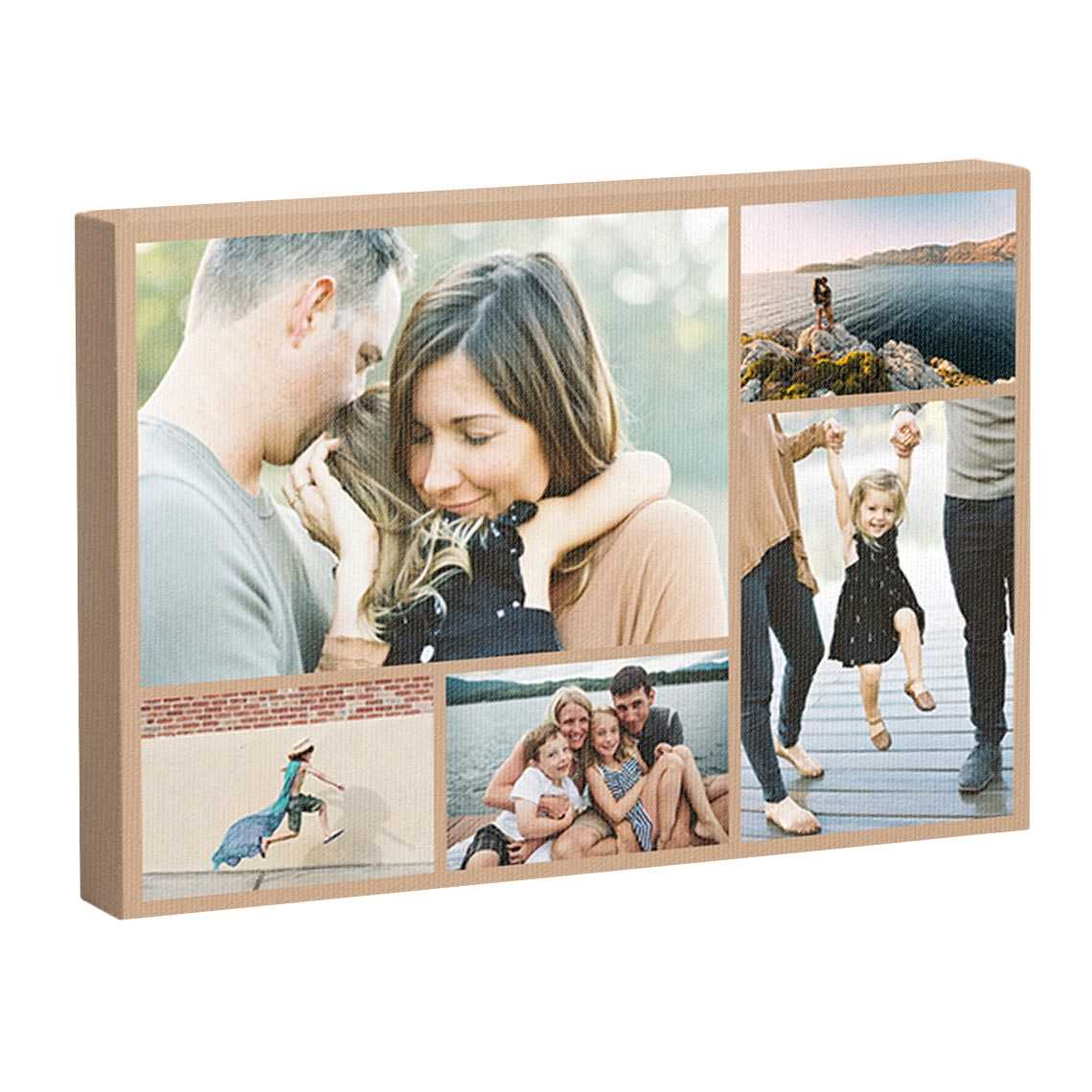 Icon Premium Collage Canvas Slim Frame
