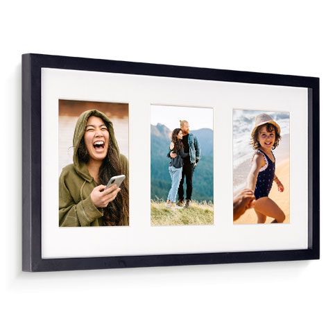 53x28cm Framed Print (13x18cm Images)