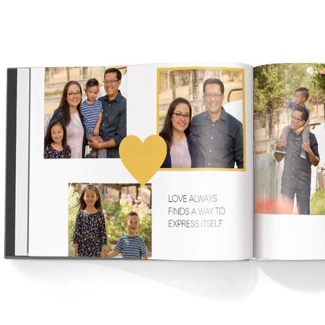 Photo book. Simply love theme