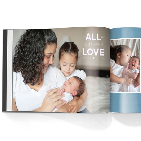 Photo book. Happy affirmations theme