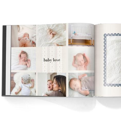 Photo book. Hello baby boy theme
