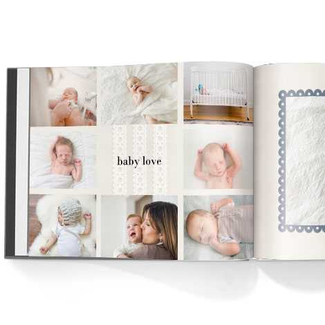 Photo book. Hello baby boy theme