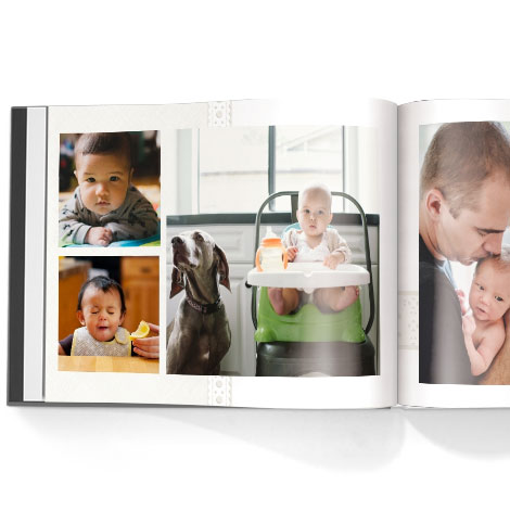 Photo book. Simple baby theme
