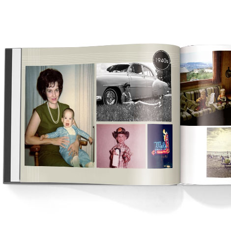 Photo book. Adult birthday theme