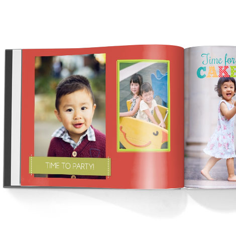 Photo book. Our growing family theme