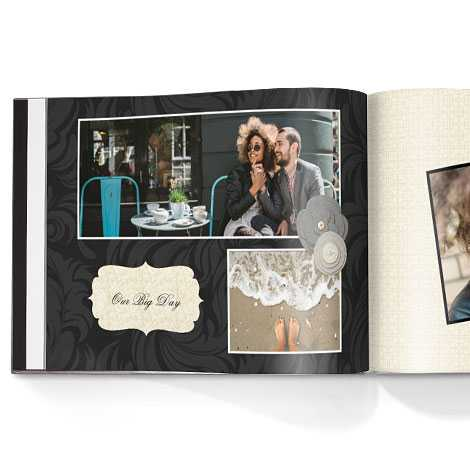 Photo book. Storybook love theme