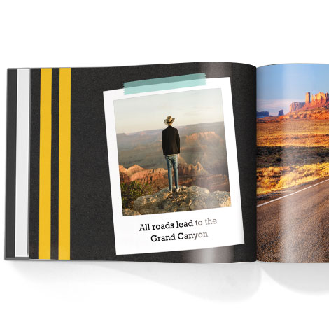 Photo book. Roadtrip theme