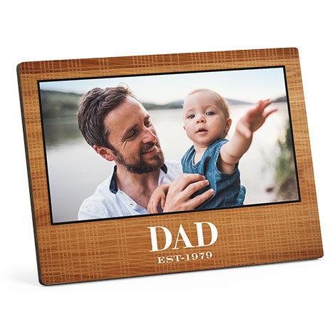 Wooden photo panel