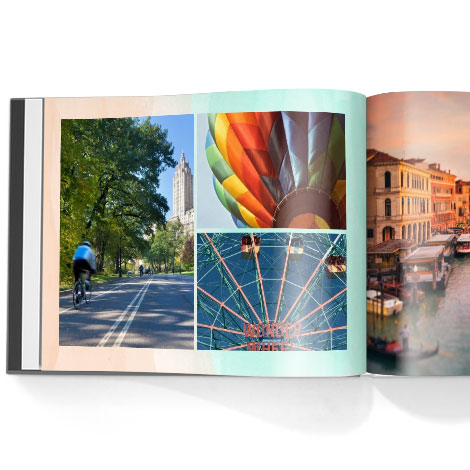 Photo book. Art of travel theme