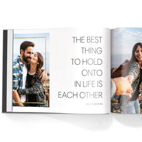 Photo book. Love story theme