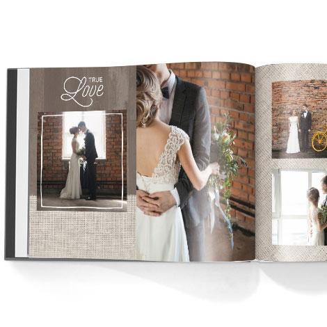 Photo book. Rustic Chic theme
