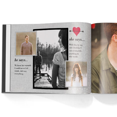 Photo book. Engagement theme