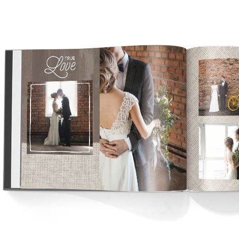 Photo book. Rustic Chic theme