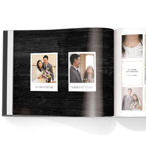 Photo book. Love story theme