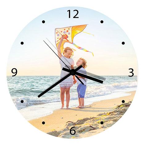 Glass Wall Clock