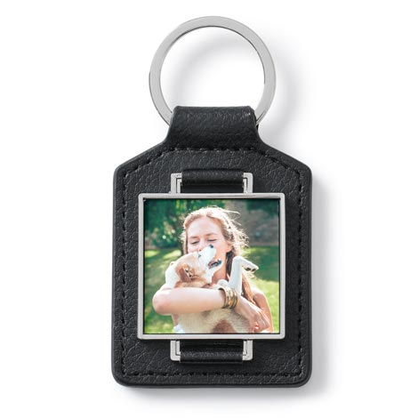 Leather Photo Keyrings