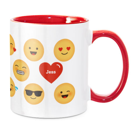 Coloured Mug, Red