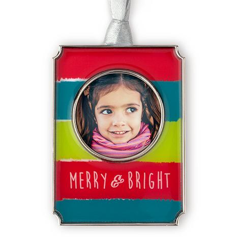 Icon Merry & Bright Photo Ornament