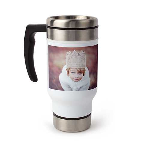 Icon Travel Coffee Mug with Handle, 13 oz.