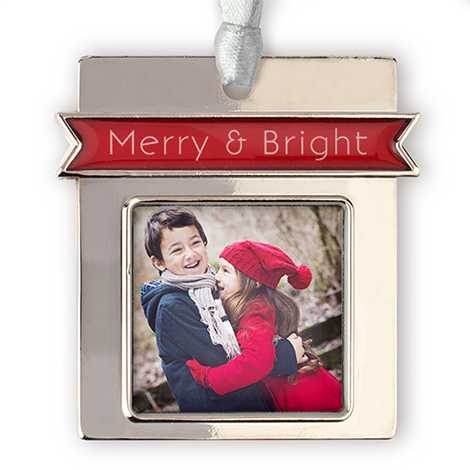 Icon Merry Photo Ornament