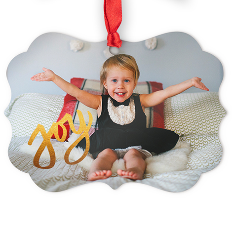 Aluminum Medallion Photo Ornament